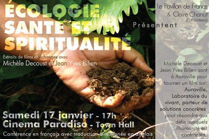 Ecologie, santé et spiritualité
