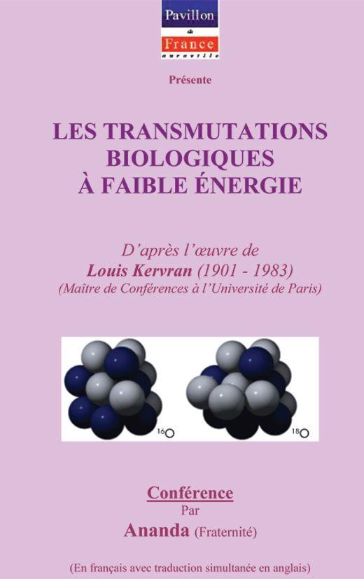 Transmutations biologiques à faible énergie