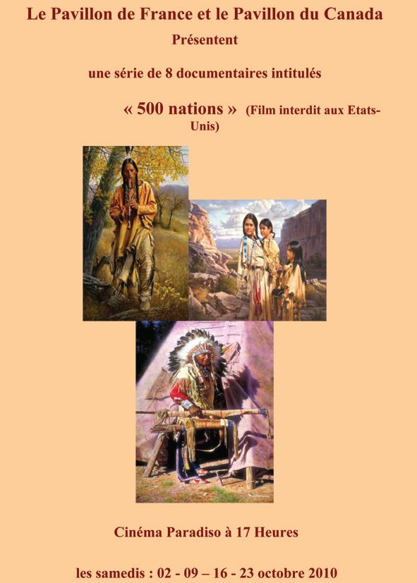 Documentaire 500 nations –  1er et 2e épisode