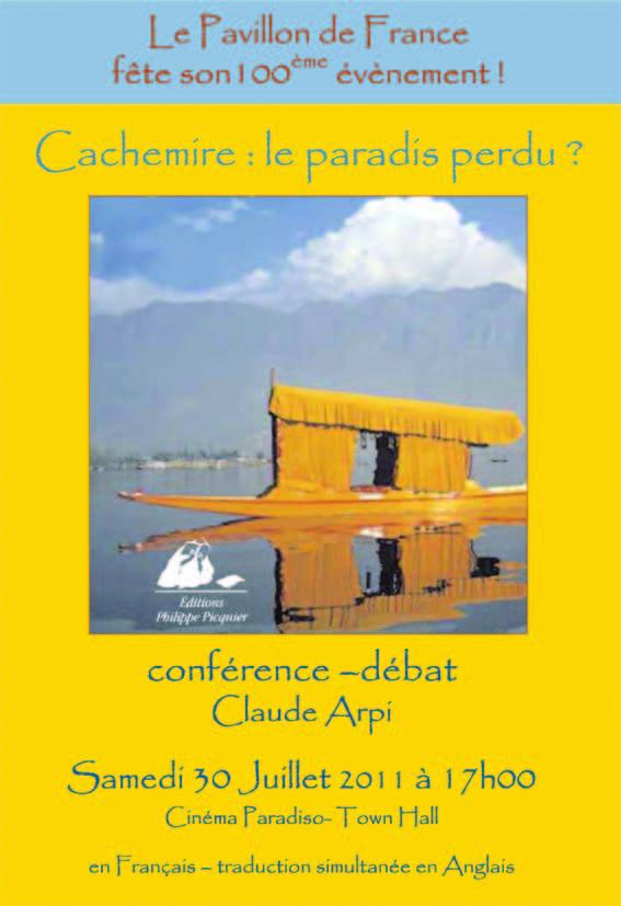 SPECIAL 100e évènement du Pavillon de France Cachemire : le paradis perdu ?