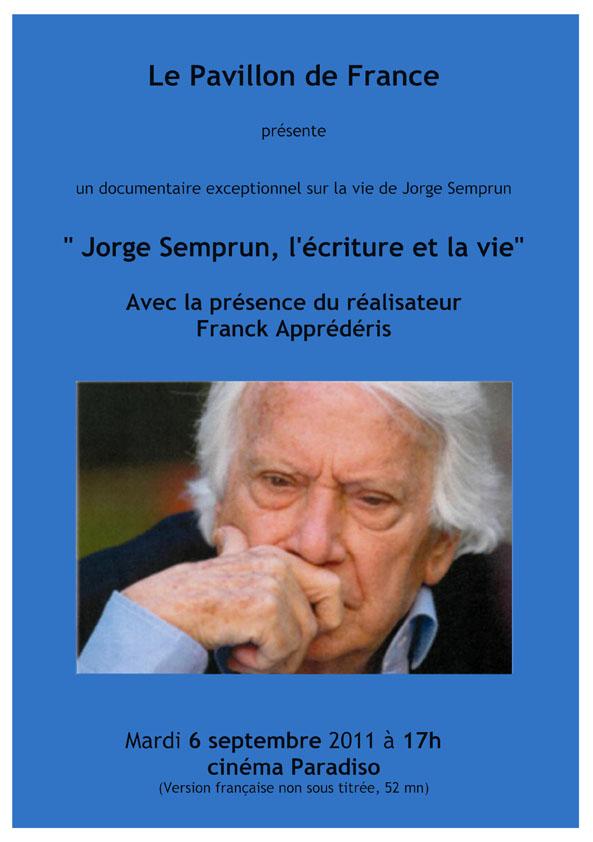 Jorge Semprun, l'écriture et la vie