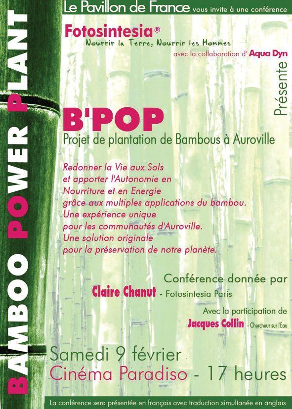 Fotosintésia Projet B'POP: Plantation de bambous à Auroville