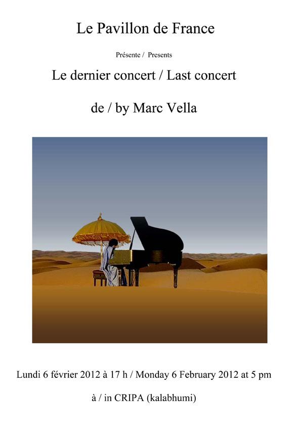 Le dernier concert de Marc Vella