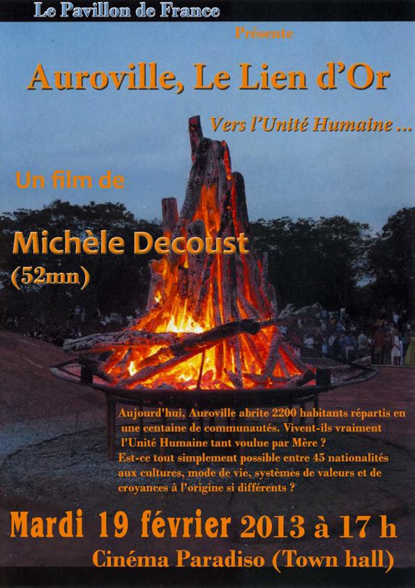 Auroville, Le lien d'or, vers l'Unité Humaine …