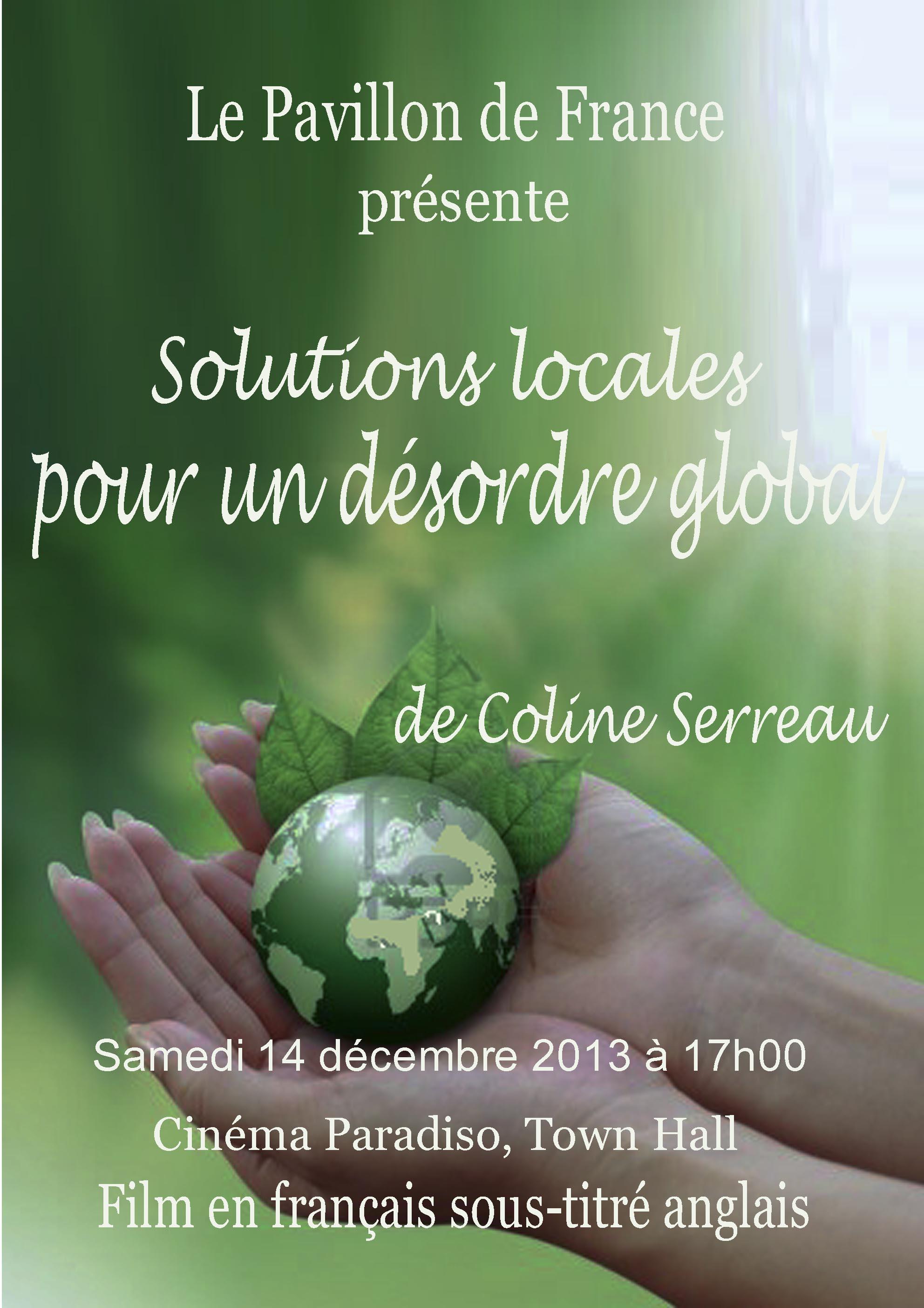 Solutions locales pour un désordre globale