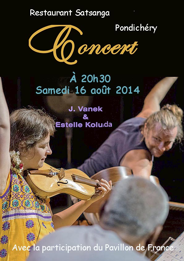 Concert de musique à Satsanga