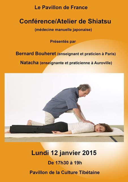 Conférence/Atelier de Shiatsu : Bernard Bouheret