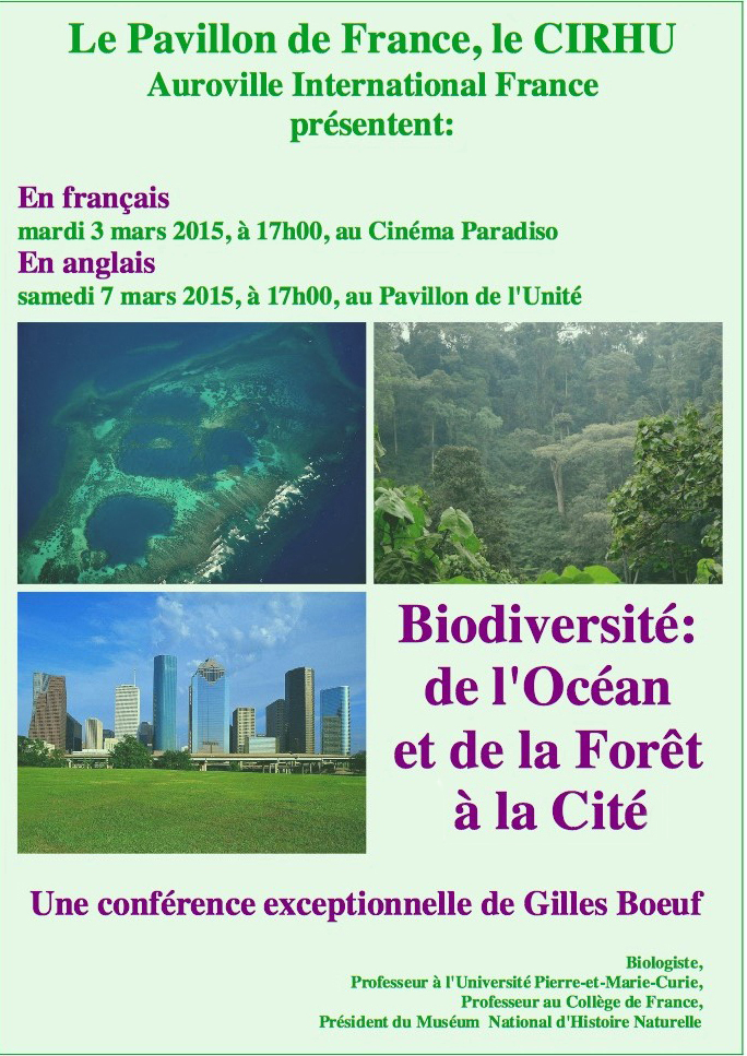 « Biodiversité : de l'Océan et de la Forêt à la Cité »