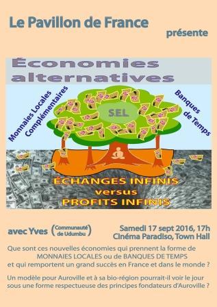 « Vers une Économie Alternative Complémentaire pour Auroville et ses Environs »
