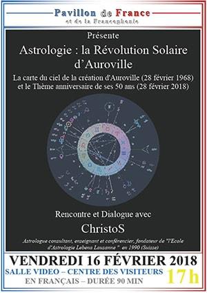 Astrologie, la révolution solaire d'Auroville