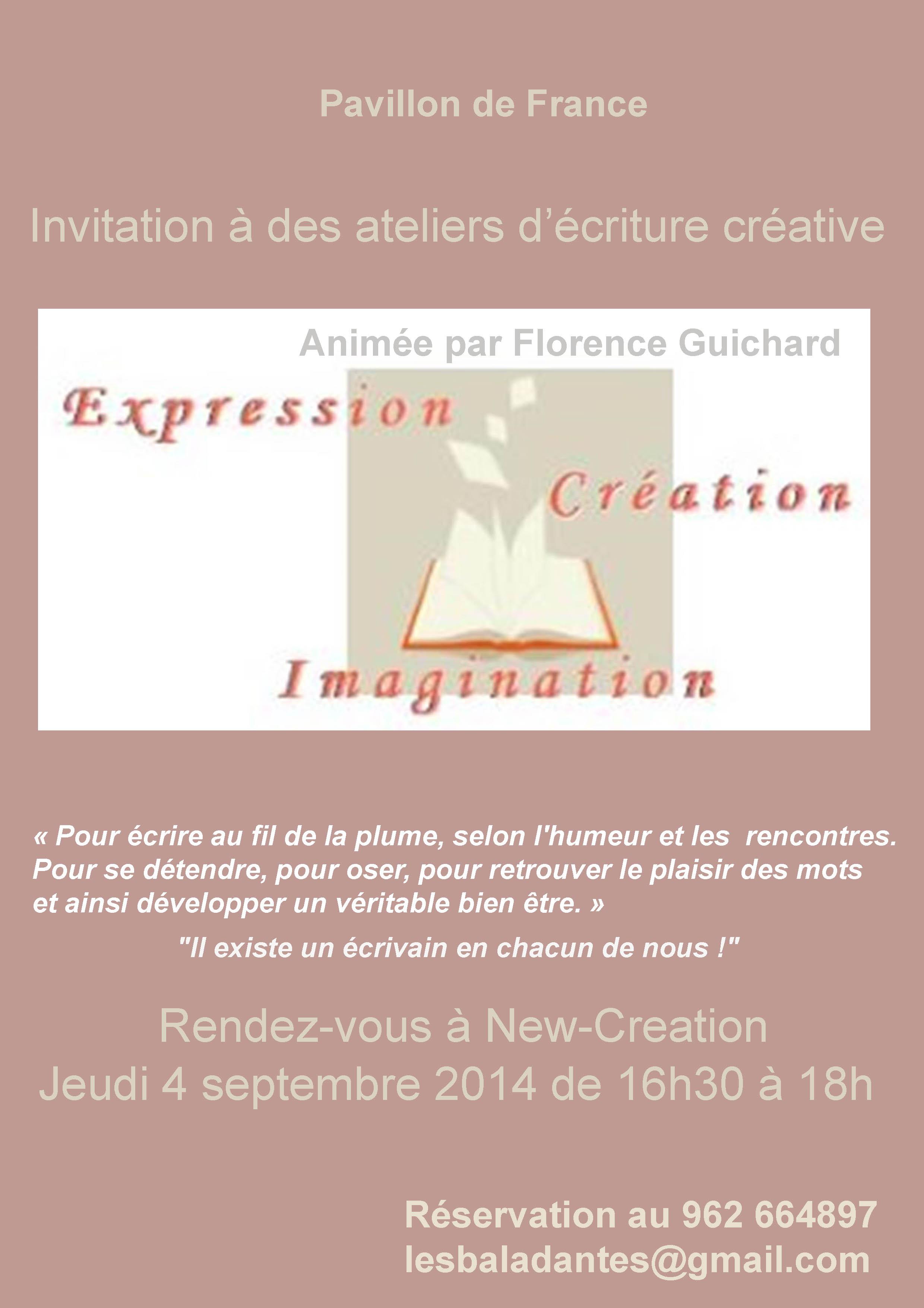 Ateliers d'écritures, Florence Guichard