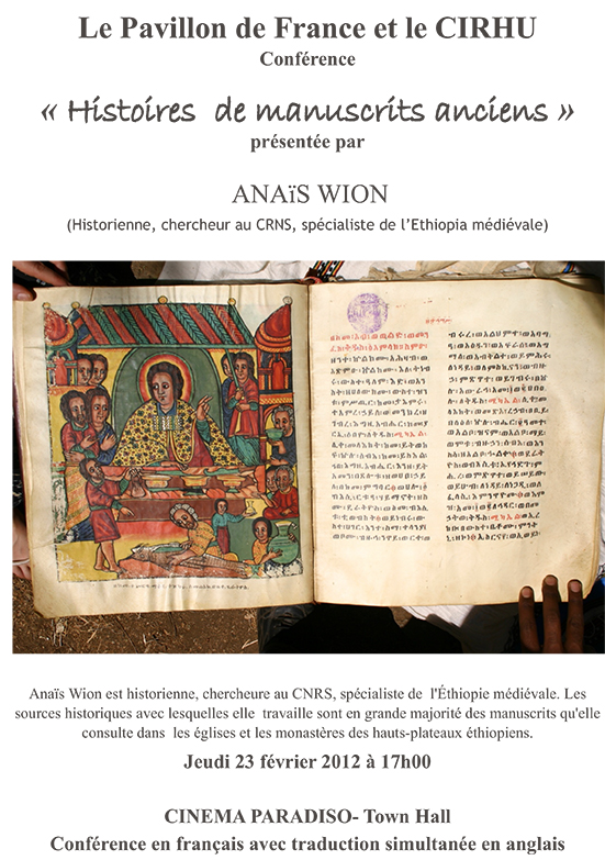 Histoire de manuscrits anciens