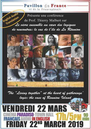 Conférence :    Le vivre ensemble au cœur des logiques de rencontres : le cas de l'île de La Réunion